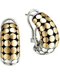 John Hardy - Dot 18k Gold And Sterling Silver Buddha Belly Earrings - Lyst