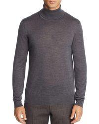 Bloomingdale's Merino Wool Turtleneck Sweater - Gray