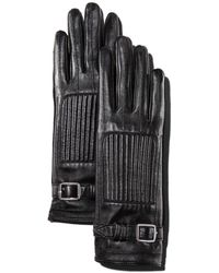 The Kooples Leather & Suede Gloves - Black