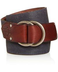 Frye - Men's O - Ring Buckle Canvas Belt - Lyst