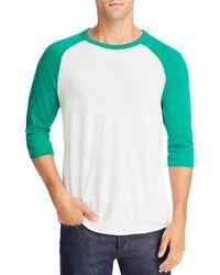 Alternative Apparel Vintage Inspired Baseball Jersey - Green