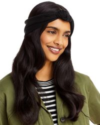 Aqua Knotted Headband - Black