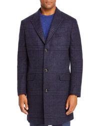 Robert Graham Mélange Plaid Classic Fit Coat - Blue