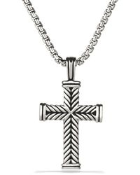 David Yurman Chevron Cross - Metallic