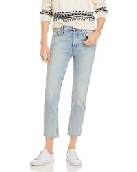 Mother The Tomcat Straight Leg Jeans In Marrakesh Days - Blue