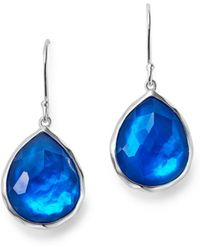 Ippolita - Sterling Silver Rock Candy® Wonderland Mini Teardrop Earrings In Ultramarine - Lyst