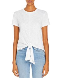 Theory Tie Front Tee - White