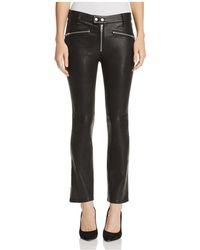 Rag & Bone - Braxton Cropped Flared Leather Pants - Lyst