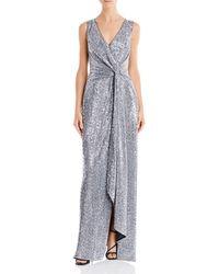 Aidan Mattox Sequin Twist - Front Gown - Metallic