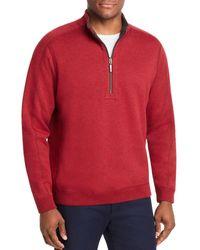 Tommy Bahama Flipsider Reversible Half - Zip Sweatshirt - Red