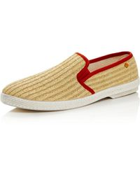Rivieras Men's Woven Slip - On Trainers - Orange