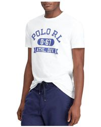 70b542b64 Lyst - Polo Ralph Lauren Custom Slim-fit Cotton-jersey T-shirt in ...