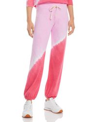 Sundry Dip Dyed Joggers - Pink