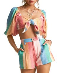 Billabong X Sincerely Jules Amaze The Day Cropped Top - Multicolour