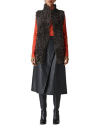 Whistles - Teddy Shearling Vest - Lyst