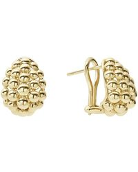 Lagos - Caviar Gold Collection 18k Gold Domed Huggie Earrings - Lyst