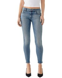 DL1961 Emma Low - Rise Skinny Jeans In Goodyear - Blue
