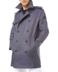 Michael Kors 3l Denim Trench Coat - Blue