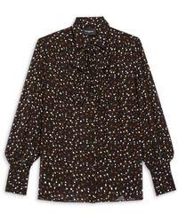 The Kooples Dot Print Blouse - Black