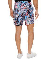 Robert Graham Beach To Bar Benrubi Palm Frond Print Swim Trunks - Blue