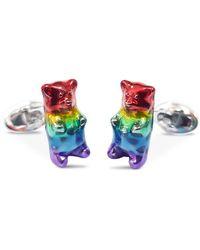 Jan Leslie Sterling Silver Gummy Bear Cufflinks - Multicolour