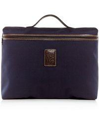 Longchamp Boxford Canvas Briefcase - Blue