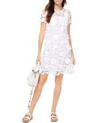 f48416021da MICHAEL Michael Kors Embellished Tunic Dress in White - Lyst
