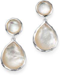 Ippolita - Sterling Silver Rock Candy Snowman Post Earrings In Mother - Of - Pearl - Lyst