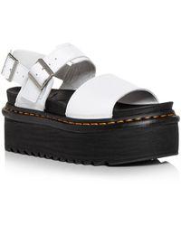 Dr. Martens Voss Quad Slingback Platform Sandals - White
