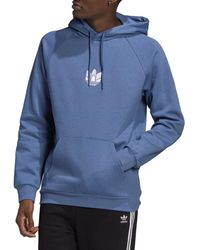 adidas 3d Trefoil Logo Hoodie - Blue