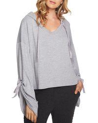 1.STATE - Cozy Hooded Crop Sweatshirt - Lyst