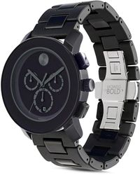 a0c4f7521 Movado Bold Chronograph Black Dial Watch 3600484 in Black for Men - Lyst