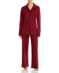 Cosabella Amore Animal Print Pyjama Set - Red