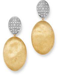 Marco Bicego - 18k Yellow & White Gold Siviglia Diamond Drop Earrings - Lyst