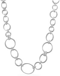 David Yurman - Crossover Convertible Statement Necklace With Diamonds - Lyst