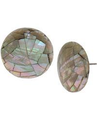 Robert Lee Morris - Mosaic Round Earrings - Lyst