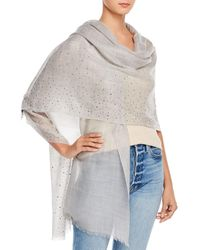 Fraas Solid Sparkle Wool & Cashmere Wrap Scarf - Metallic