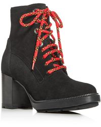Aquatalia Isotta Block - Heel Booties - Black