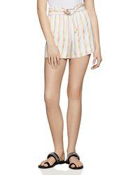 BCBGeneration - Paperbag-waist Striped Shorts - Lyst