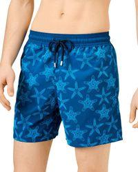 Vilebrequin Moorea Flock Starfish Swim Trunks - Blue