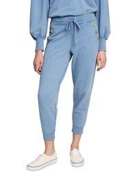 10 Crosby Derek Lam Jax Cotton Sweatpants - Blue