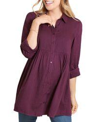 Ingrid & Isabel - Peplum Maternity Shirt - Lyst