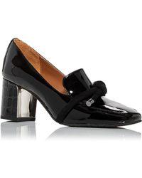 Donald J Pliner Women's Camee High Block Heel Loafers - Black