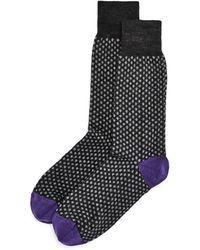 Bloomingdale's - Wool Mini - Dot Socks - Lyst