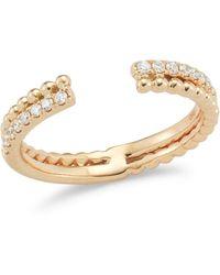 Dana Rebecca - 14k Rose Gold Poppy Rae Bypass Ring With Diamonds - Lyst