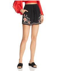 Band Of Gypsies - Floral Embroidered Shorts - Lyst