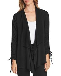 Vince Camuto - Drawstring - Sleeve Open Cardigan - Lyst