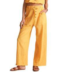 Billabong X Sincerely Jules Bring On Drawstring Pants - Orange