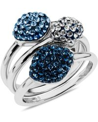 Atelier Swarovski - Moselle Set Of 3 Stacking Rings - Lyst
