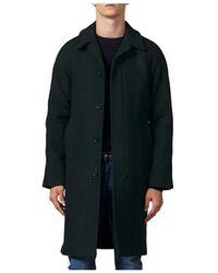 Sandro Herringbone Topcoat - Green